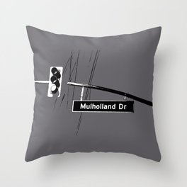 Mulholland Drive Throw Pillow