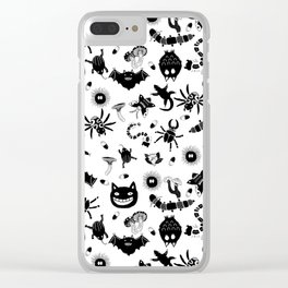 Ghibli creatures Clear iPhone Case