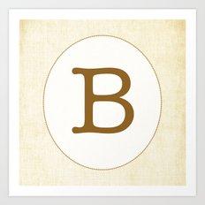 Vintage Letter Series - B Art Print