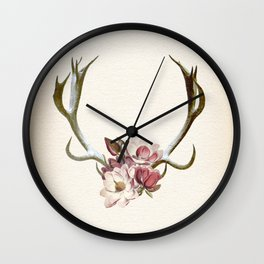 The Anatomy of Flowers Wall Clock