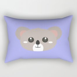 Cute friendly Koala head Rectangular Pillow