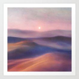 Minimal abstract landscape II Art Print