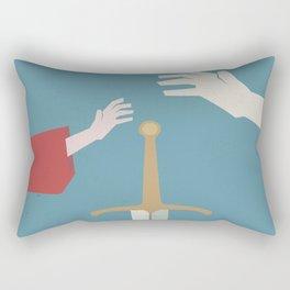 The sword in the stone, minimalist movie poster, animated film, King Arthur, Merlin, retro playbill Rectangular Pillow