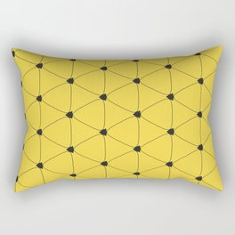Abstract yellow pattern taxi Rectangular Pillow