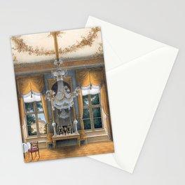 Interior Portrait, Le salon jaune de la reine Louise de Prusse palais de Potsdam by Hans Giersbeg Stationery Cards