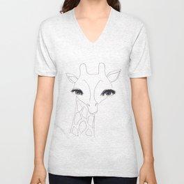 Lady Giraffe Unisex V-Neck