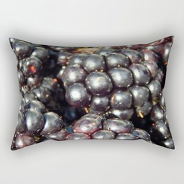 Blackberries berry still life and texture composition Rectangular Pillow
