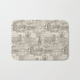 Edinburgh toile natural Bath Mat