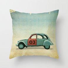 Number 03 _ Citron 2CV Throw Pillow