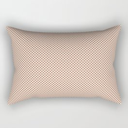 Cavern Clay SW 7701 Tiny Uniform Polka Dot Pattern 1 on Creamy Off White SW7012 Rectangular Pillow