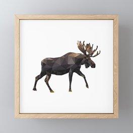 Polygon geometric Moose Framed Mini Art Print
