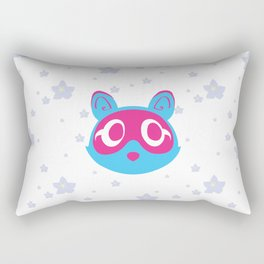 Tanuki & Sakura (blue) Rectangular Pillow