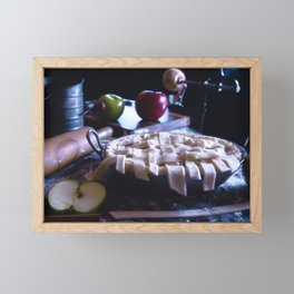 Apple Pie in the Making Framed Mini Art Print