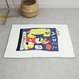 Joan Miro Help Spain, Aidez Espagne 1980 Artwork for Prints Posters Tshirts Bags Women Men and Kids Rug