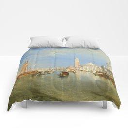 """J.M.W. Turner """"Venice - The Dogana and San Giorgio Maggiore"""" Comforters"""