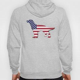 "English Setter ""American Flag"" Hoody"