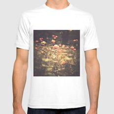 One Rose in a Magic Garden (Vintage Flower Photography) MEDIUM Mens Fitted Tee White