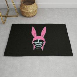 Grey Rabbit/Pink Ears Rug