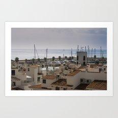 Port d'Aiguadolç Art Print