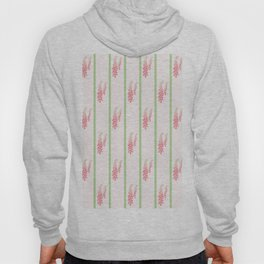 Stripes and Foxglove Pink and Green Repeat Pattern Hoody