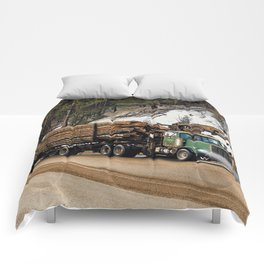 I Log In - I Log Out Comforters