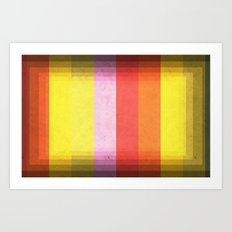 Warm Color Stripes Art Print