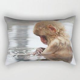 Bath time. Snow Monkey, Japan Rectangular Pillow
