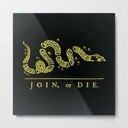 1754 Join or Die Snake Metal Print