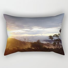 Sunset over the jungle in Costa RIca Rectangular Pillow
