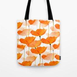 Orange Poppies On A White Background #decor #society6 #buyart Tote Bag