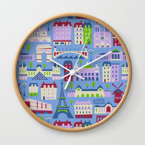 J'adore Paris Wall Clock