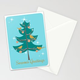 Mid Century Christmas Tree Stationery Cards