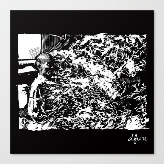 Burning Monk Canvas Print