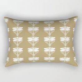 Teak Arts and Crafts Dragonflies Rectangular Pillow