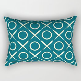tic tac toe game pattern Rectangular Pillow