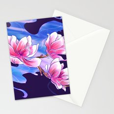 Magnolia night Stationery Cards
