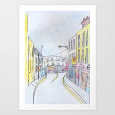 Galway's West end. Art Print