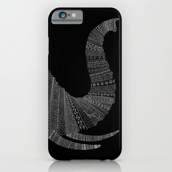Elephant (On Black) iPhone & iPod Case