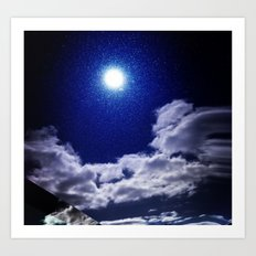 Signs in the Sky Collection I- in its original deep blue Art Print