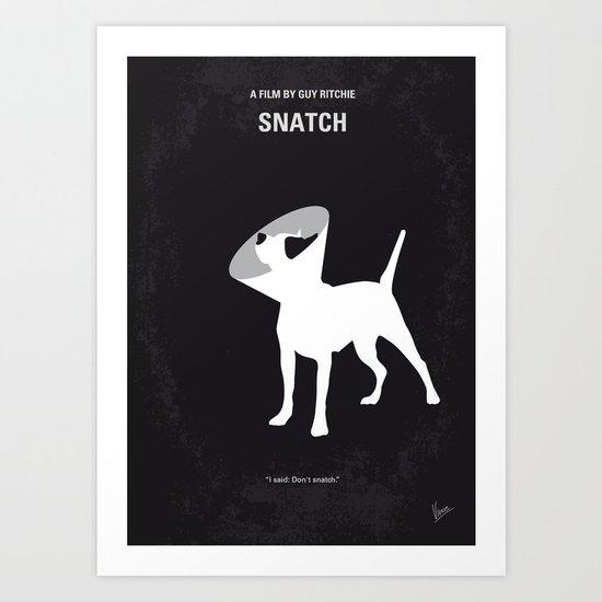 No079 My Snatch minimal movie poster Art Print