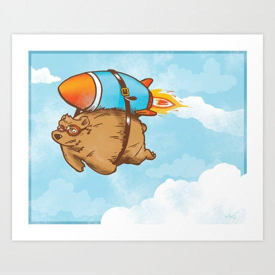 Rocket Bear Art Print
