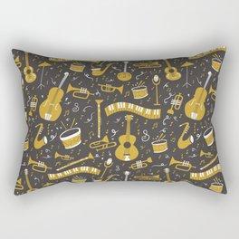 Spirit of Jazz in Grey Rectangular Pillow