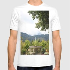 Fountain in the Mountains White Mens Fitted Tee MEDIUM