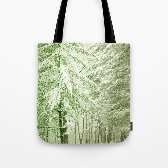 Winter Pine Trees Tote Bag