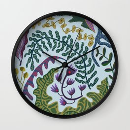 Muddy Wavy Foliage Wall Clock