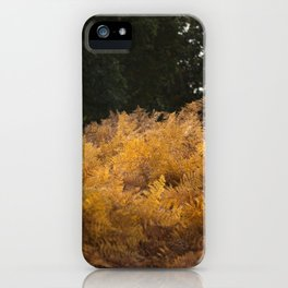 YELLOW FERN iPhone Case