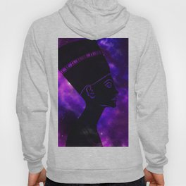 Queen Nefertiti Nebula Dark Space Skyscape Hoody