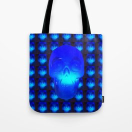 Blue Crystal Skull Tote Bag