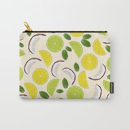 Lime Lemon Coconut Mint pattern Carry-All Pouch