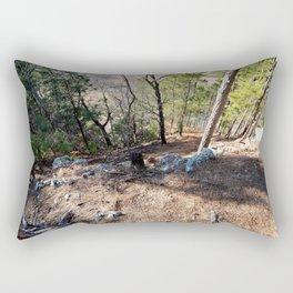 Climbing Up Sparrowhawk Mountain above the Illinois River,No. 5 of 8 Rectangular Pillow